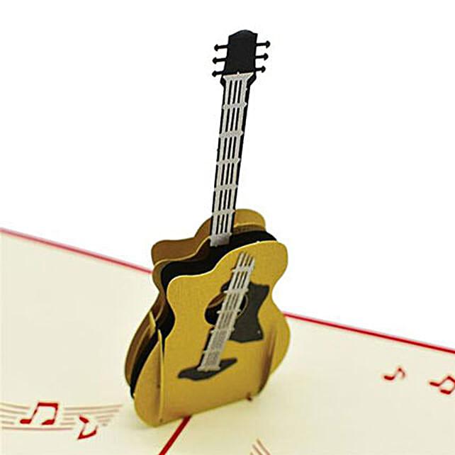 Handmade 3D Pop Up Guitar Greeting Card: Greeting Cards