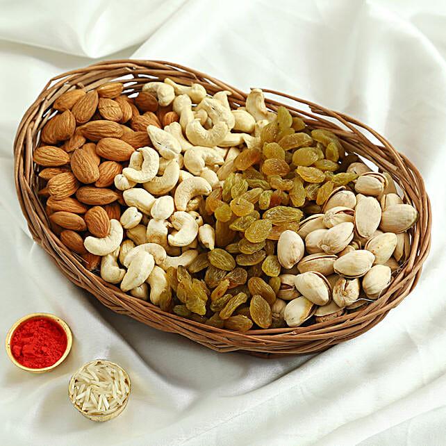 Mixed Basket Of Dry Fruits: Bhai Tika Gifts for Bhai Dooj