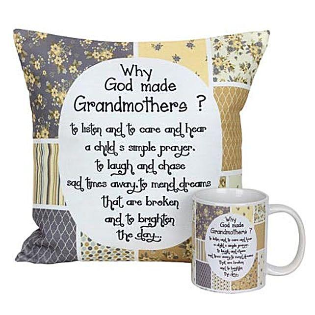 Mug and Cushion For Grandma: Grandparents Day Mugs