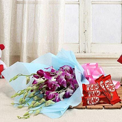 Orchids with Chocolates: Send Orchids
