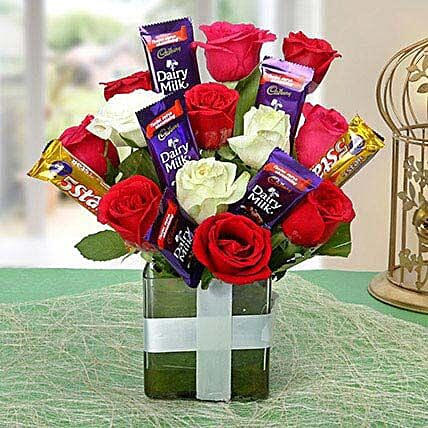 Perfect Choco Flower Arrangement: Cadbury Chocolates