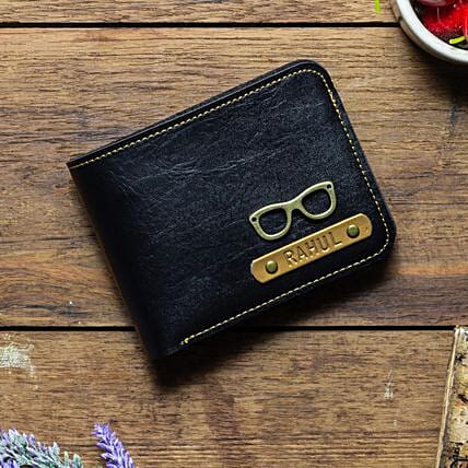 Personalised Black Mens Wallet: Accessories