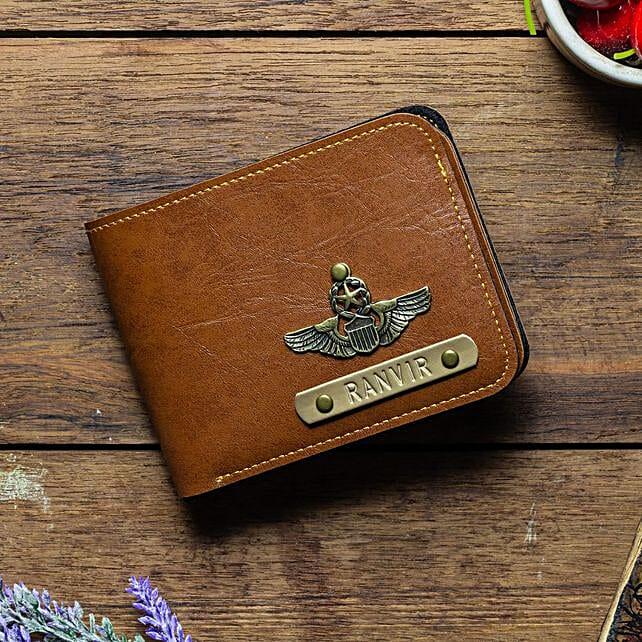 Personalised Tan Brown Mens Wallet: Personalised Accessories
