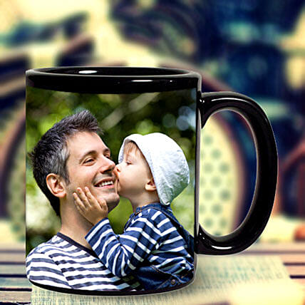 Personalized Black Mug: Custom Photo Coffee Mugs