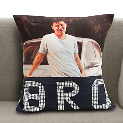 Personalized Bro Cushion: Bhai Dooj Personalised Gifts