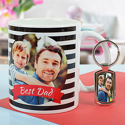 Personalized Combo Of Key Chain N Mug: Personalised Gifts Combos