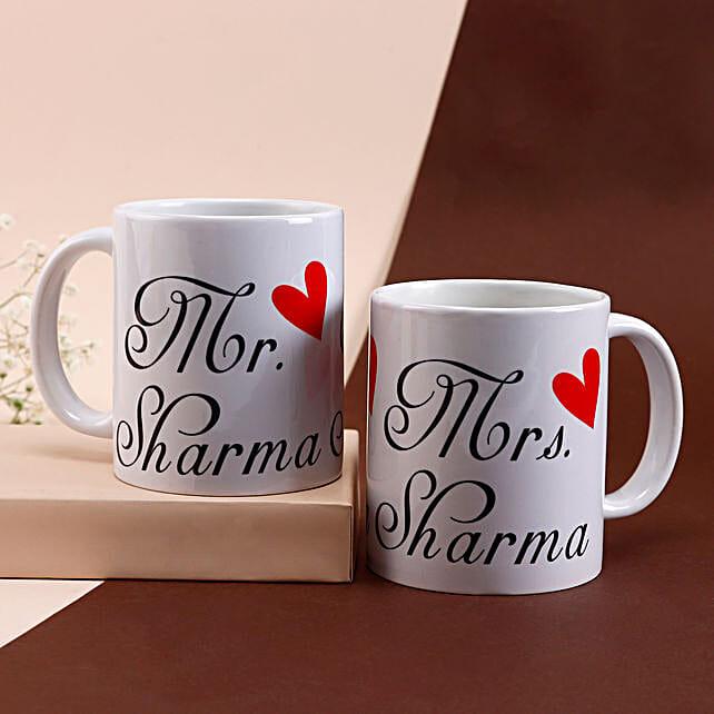 Personalized Couple Mugs: Send Personalised Mugs to Mumbai