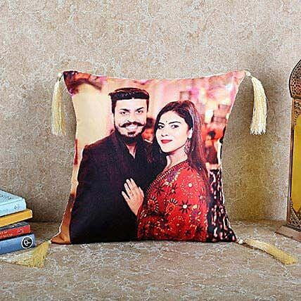 Personalized Happy Cushion: Gifts for Wedding Anniversary