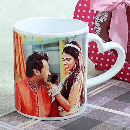 Personalized Heart Mug: Custom Photo Coffee Mugs
