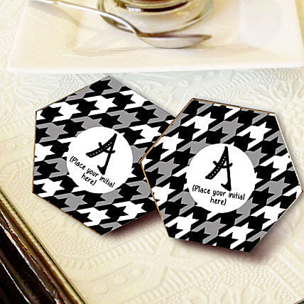 Personalized Letter Coasters: Send Gifts to Dindori