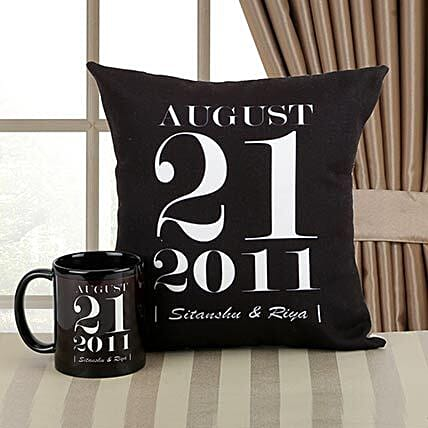 Personalized Memories Combo: Cushions and Mugs Combo