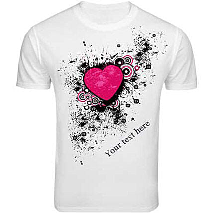 Personalized Message T shirt: Personalised T Shirts