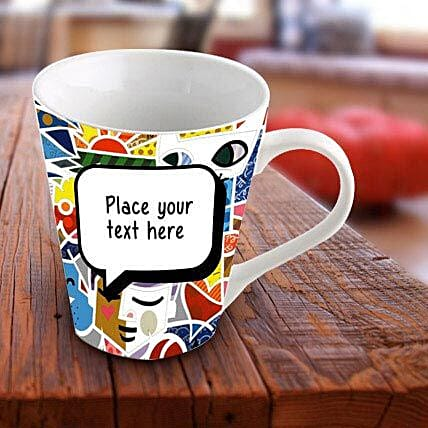 Personalized Vibrant Mug: Send Gifts to Alleppey