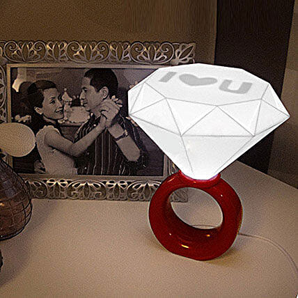 Red Diamond Ring Night Lamp: Unusual Gifts