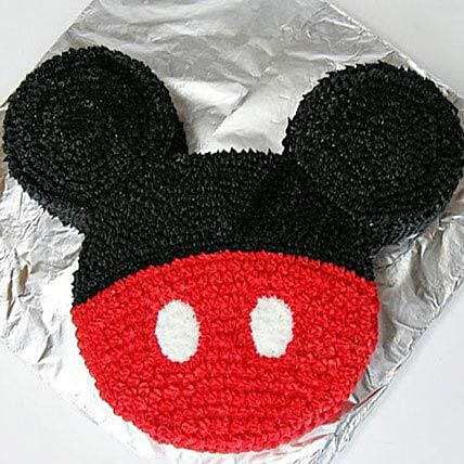 Red N Black Mickey Mouse Cake: