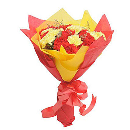 Yellow N Red Carnations: Send Promise Day Gifts