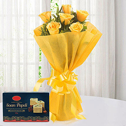 Yellow Roses N Sweets: Gifts for Eid Ul Zuha