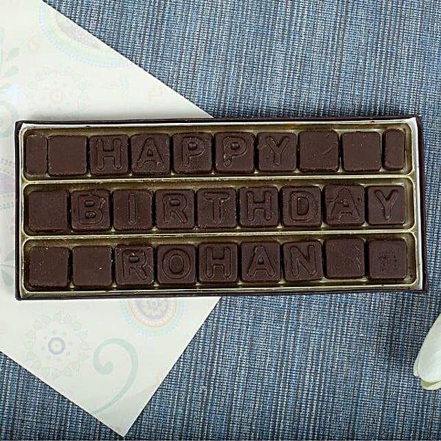 Personalized Birthday Chocolates: Personalized Chocolate Gifts