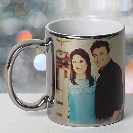 Personalized Ceramic Silver Mug: Wedding Gifts to Kanpur