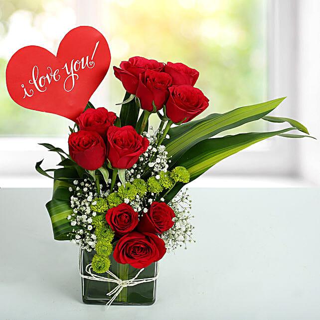 Red Roses Love Arrangement: