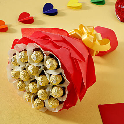 Rocher Choco Bouquet: Bhai Dooj Gifts Dehradun