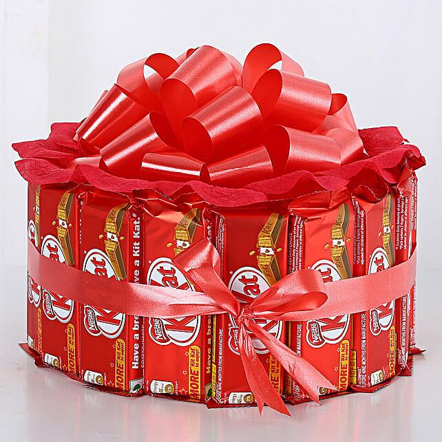 Sweet KitKat Bouquet: Send Chocolate Bouquet