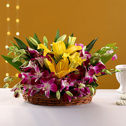 Timeless Elegance: Flower Basket