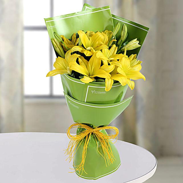 Yellow Asiatic Lilies Bunch: