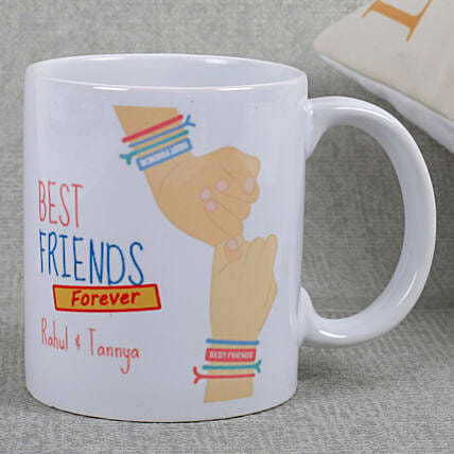 Best Friends Ceramic Mug: Friendship Day Personalised Mugs