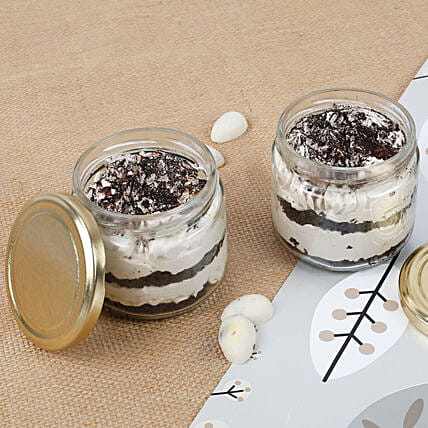Set of 2 Trendy Tiramisu Jar Cake: Cake in a Jar