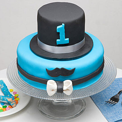 Moustache And Hat Birthday Cake: Send Designer Cakes