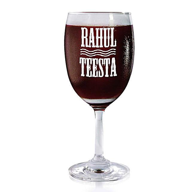 Personalised Set Of 2 Wine Glasses 2168: Personalised Wine glasses
