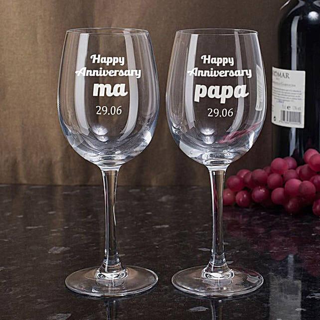Personalised Set Of 2 Wine Glasses 2899: