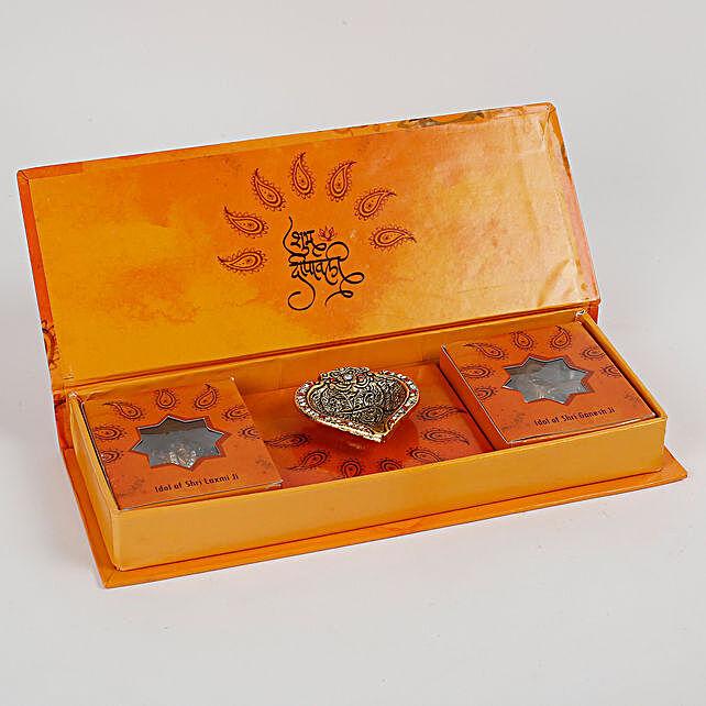 Diwali Poojan Kit With Lakshmi Ganesha Idols: Pooja Boxes