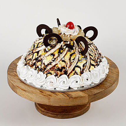 Dome Shaped Choco Coin Cake: Black Forest Cakes