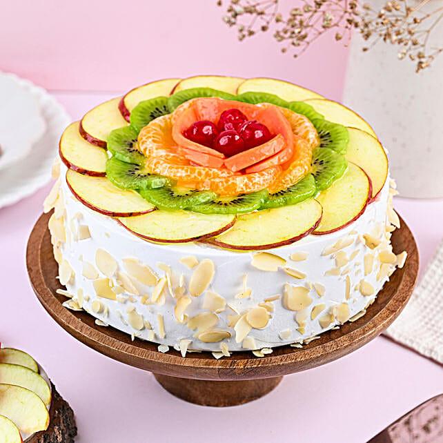 Creamy Vanilla Fruit Cake: Bhai Dooj Cakes