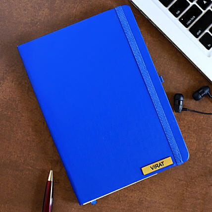 Personalized Blue Notebook: Personalised Stationary