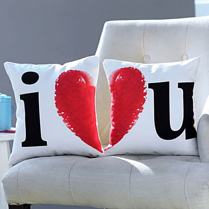 I Love You Cushion Set: Anniversary Gifts