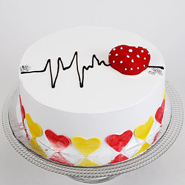 Heart Beat Cake: Send Designer Cakes for Wedding