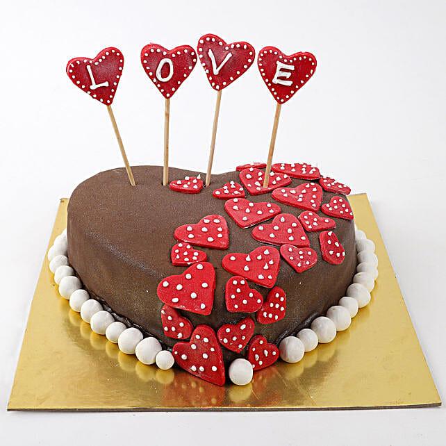 Valentine Red Hearts Cake: 25Th Anniversary Cakes