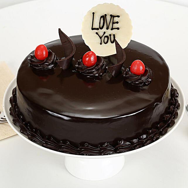 Love You Valentine Truffle Cake: Cakes to Panjim