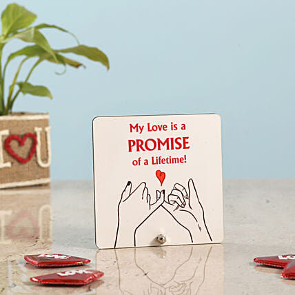 Happy Promise Day Table Top: Table tops