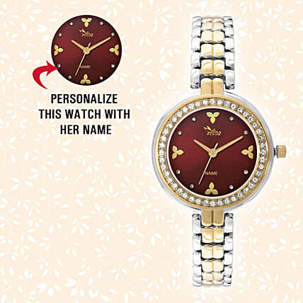 Personalised Silver & Golden Pretty Watch: Watches