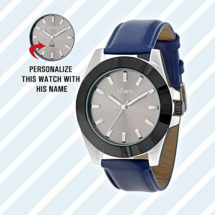 Personalised Black & Grey Watch For Him:
