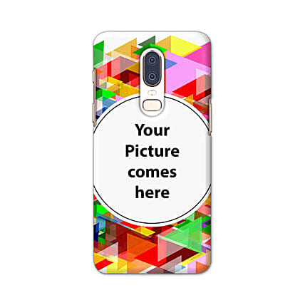 One Plus 6 Customised Vibrant Mobile Case: Personalised One Plus Mobile Covers
