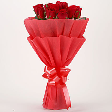Vivid - Red Roses Bouquet: Gifts to Panchkula