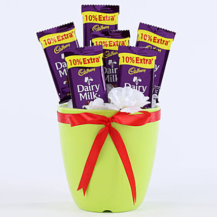 Chocolaty Vase: Cadbury Chocolates