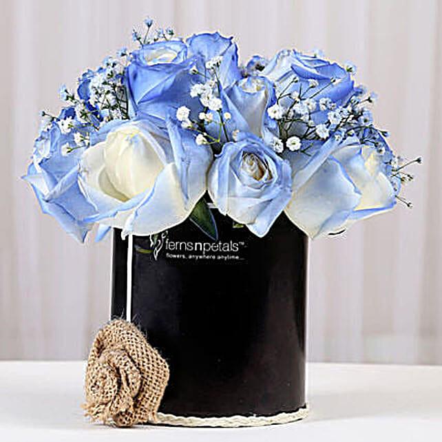 Shaded Love- Blue Roses Arrangement: Send Flowers for Her
