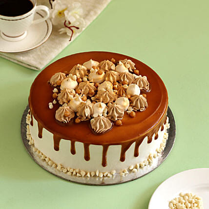 Cream Drop Caramel Cake: Buy Eggless Cakes
