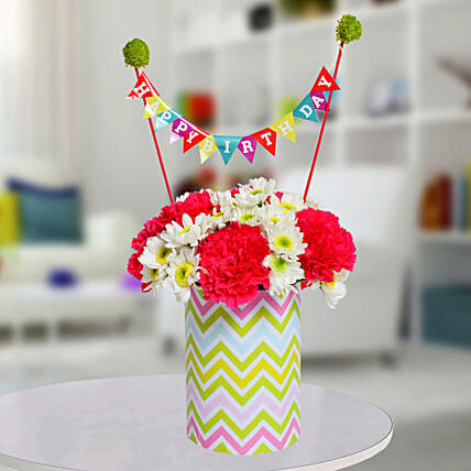 Special Birthday Vase Arrangement: Best Gifts to India